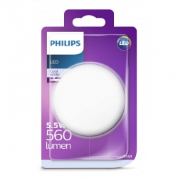 LED Bombilla 5, 5 W (40 W), GX53, Blanco Neutro, No regulable